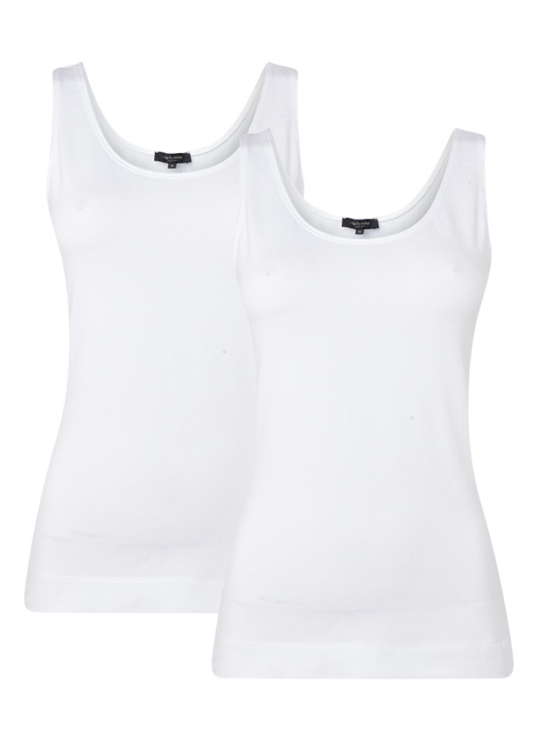 Claudia Sträter - Singlet in 2-pack - Wit