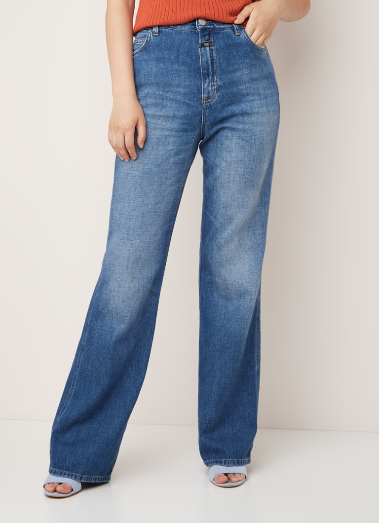 Closed - Closed Kathy high waist loose fit jeans met faded look - Indigo