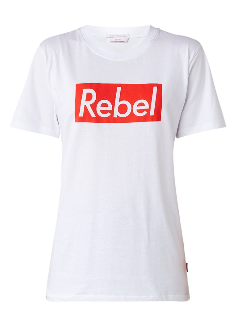 Colourful Rebel Rebel Frame T Shirt Met Logo O De Bijenkorf