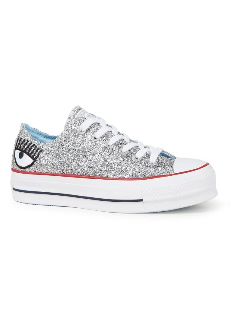 e66f578e053 Converse Chuck Taylor All Star Lift Low Top sneaker met glitter • de ...