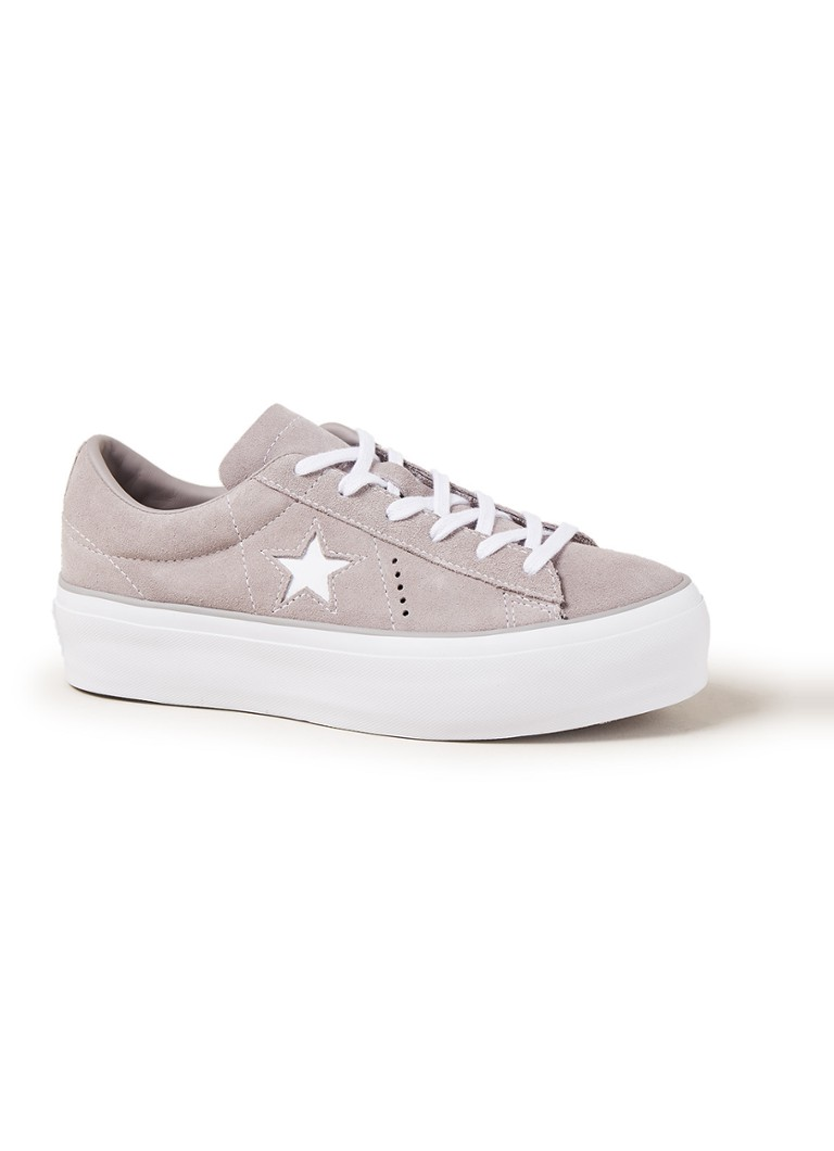 f40cd012a92 Converse One Star Platform OX sneaker van suède • de Bijenkorf