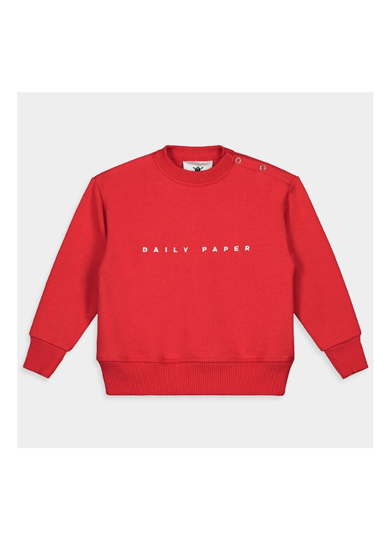 Daily Paper - Alias sweater met logoprint - Rood