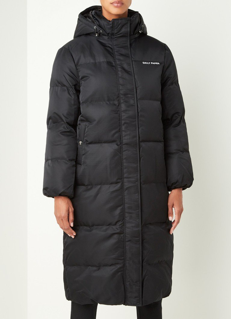 Daily Paper - Epuff puffer jack met afneembare capuchon - Zwart