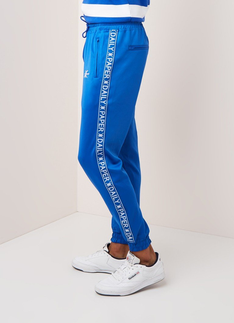 Daily Paper - Track pants met logotape - Middenblauw