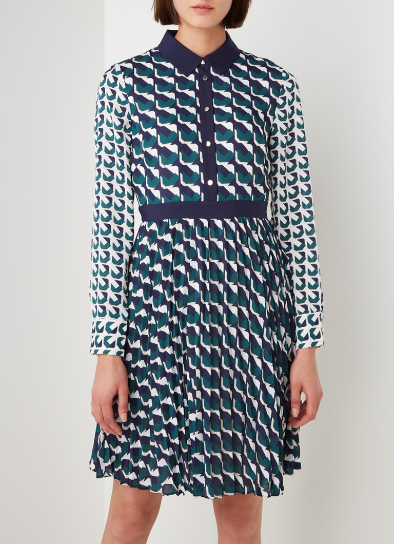 Damsel in a Dress - Emory mini blousejurk met grafische print - Donkerblauw