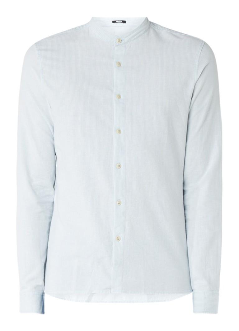Overhemd Zonder Kraag.Denham Regular Fit Overhemd Met Opstaande Kraag De Bijenkorf