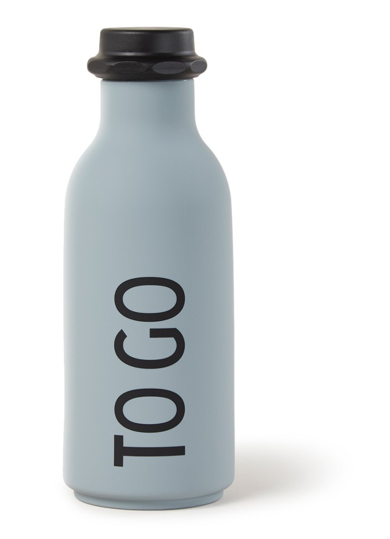 Design Letters - TO GO waterfles 500 ml - Grijs