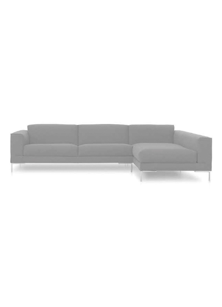 Design on Stock - Aikon bank 3-zits 1 arm + chaise longue - Lichtgrijs