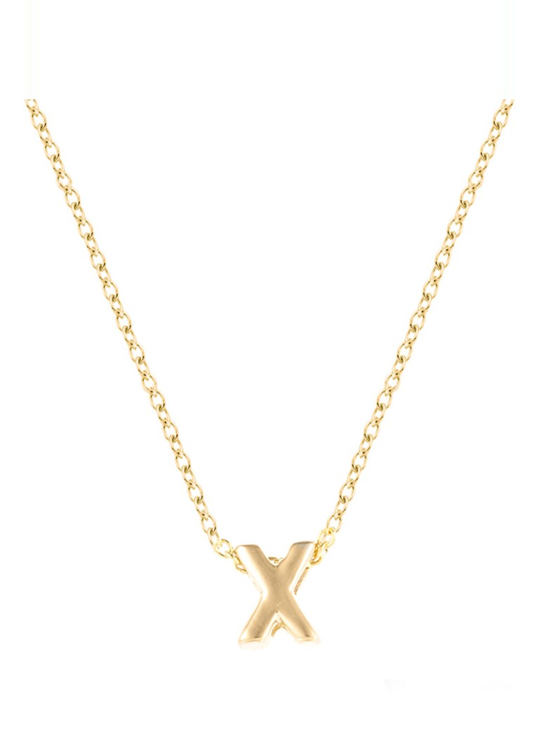 Diamond Point - Geelgouden collier Alphabet - Geelgoud