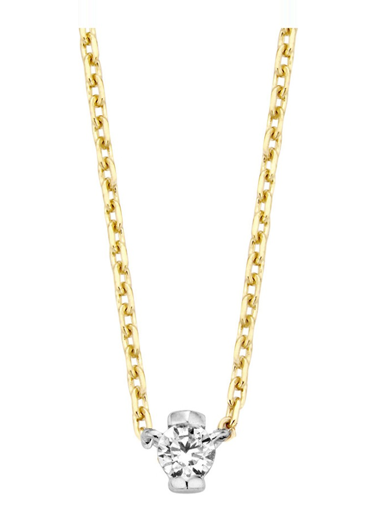 Diamond Point - Gouden collier 0.05 ct diamant Starlight - Goud