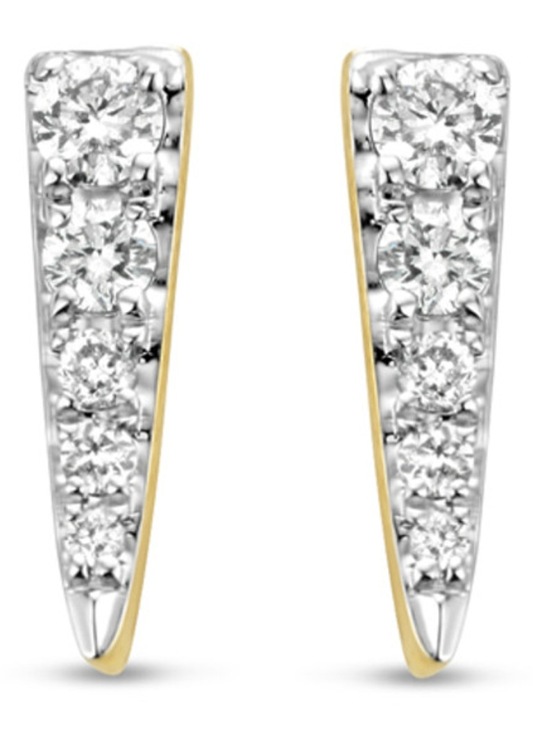Diamond Point - Gouden oorsieraden 0.12 ct diamant Cosmic - Geelgoud