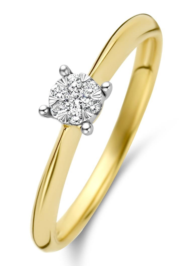 Diamond Point - Gouden ring 0.10 ct diamant Enchanted - Goud