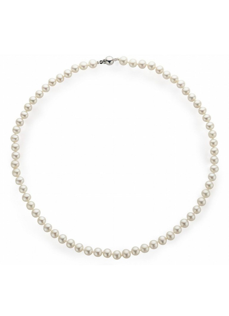 Diamond Point - Parelcollier zoetwaterparel Pearls - Wit