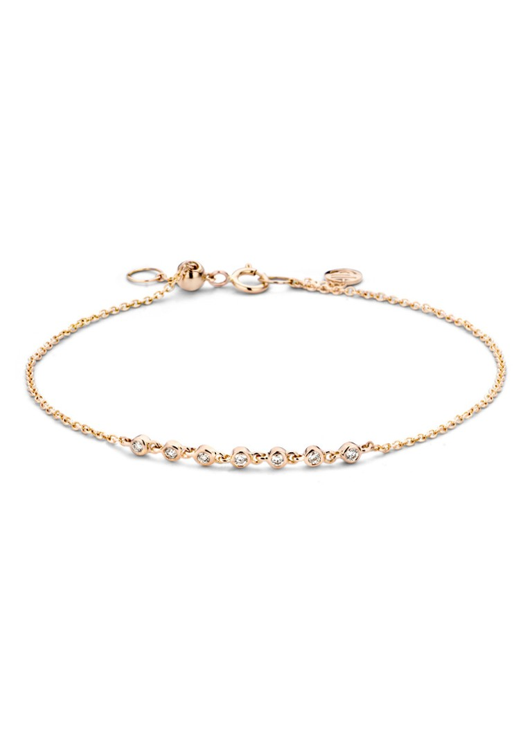 Diamond Point - Roségouden armband 0.11 ct diamant Joy - Roségoud