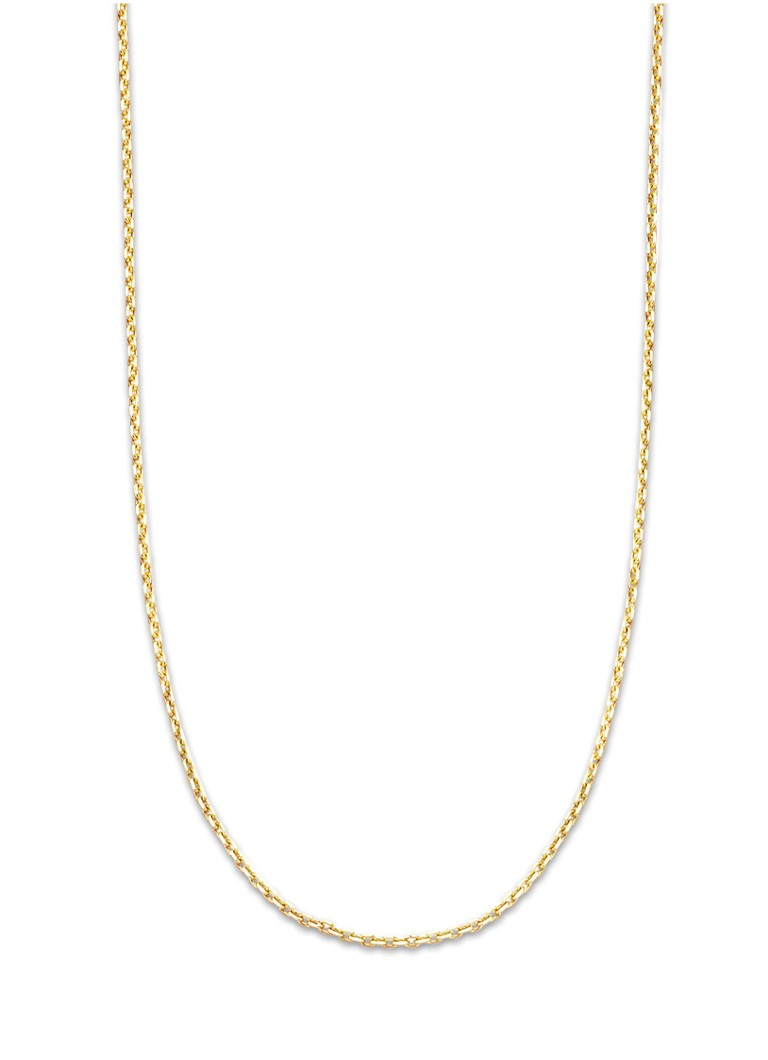 Diamond Point - Timeless treasures geelgouden collier (42cm) - Goud