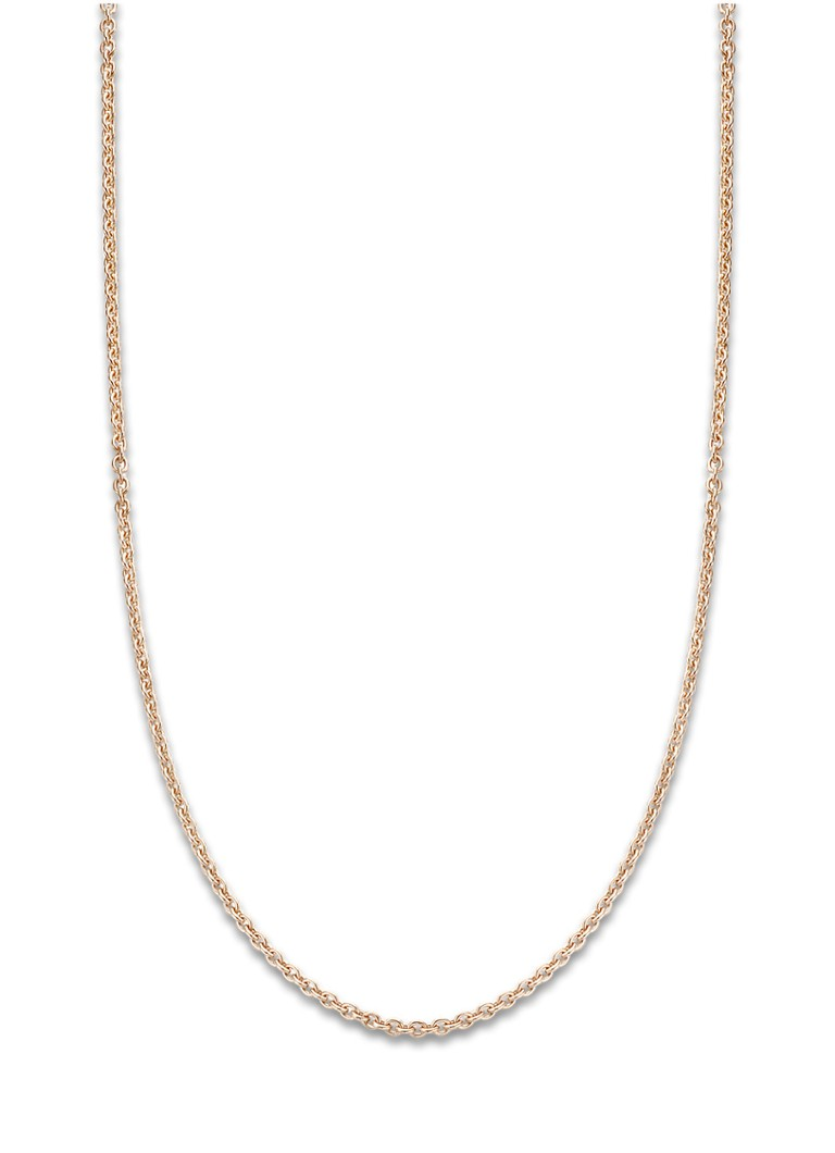 Diamond Point - Timeless treasures roségouden collier (45cm) - Roségoud