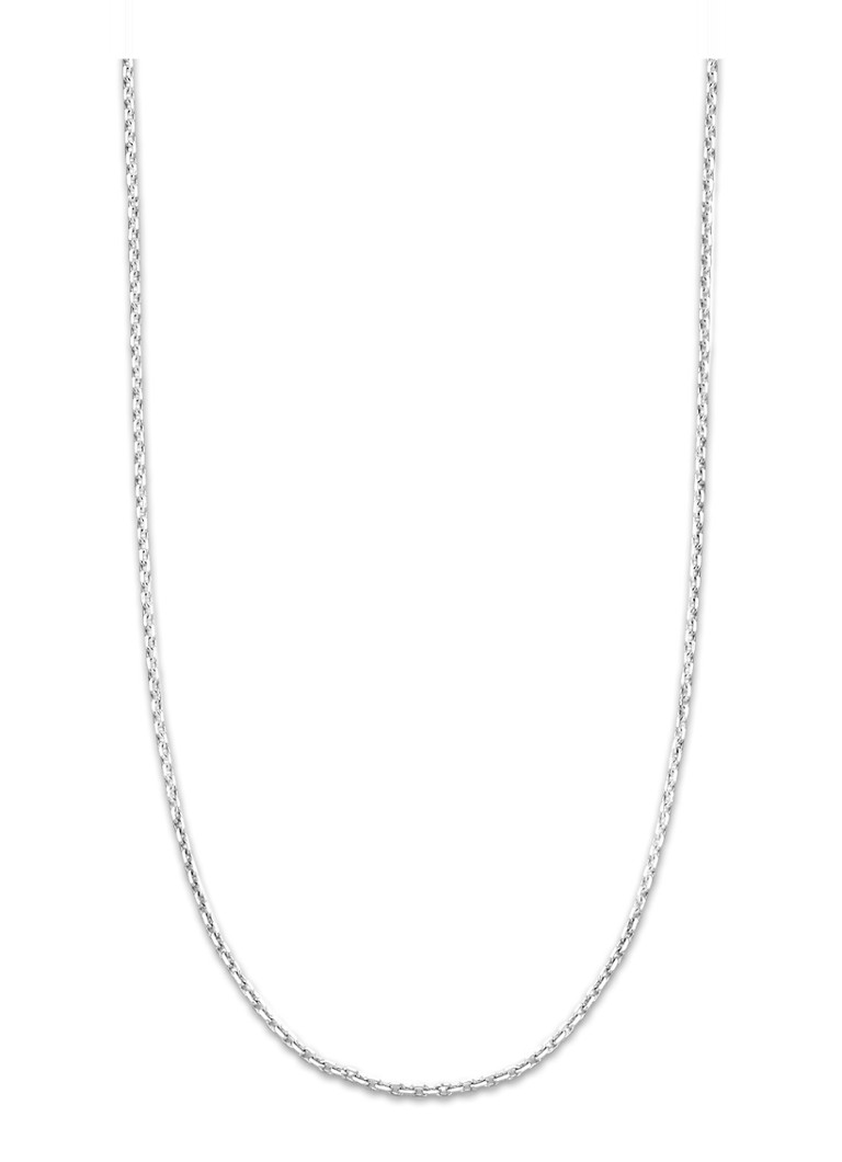 Diamond Point - Timeless treasures witgouden collier (42cm) - Witgoud