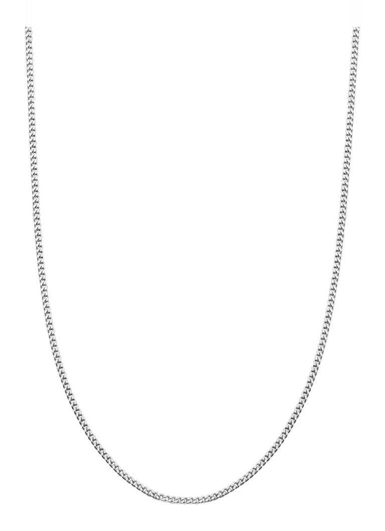Diamond Point - Timeless treasures witgouden collier (45cm) - Witgoud