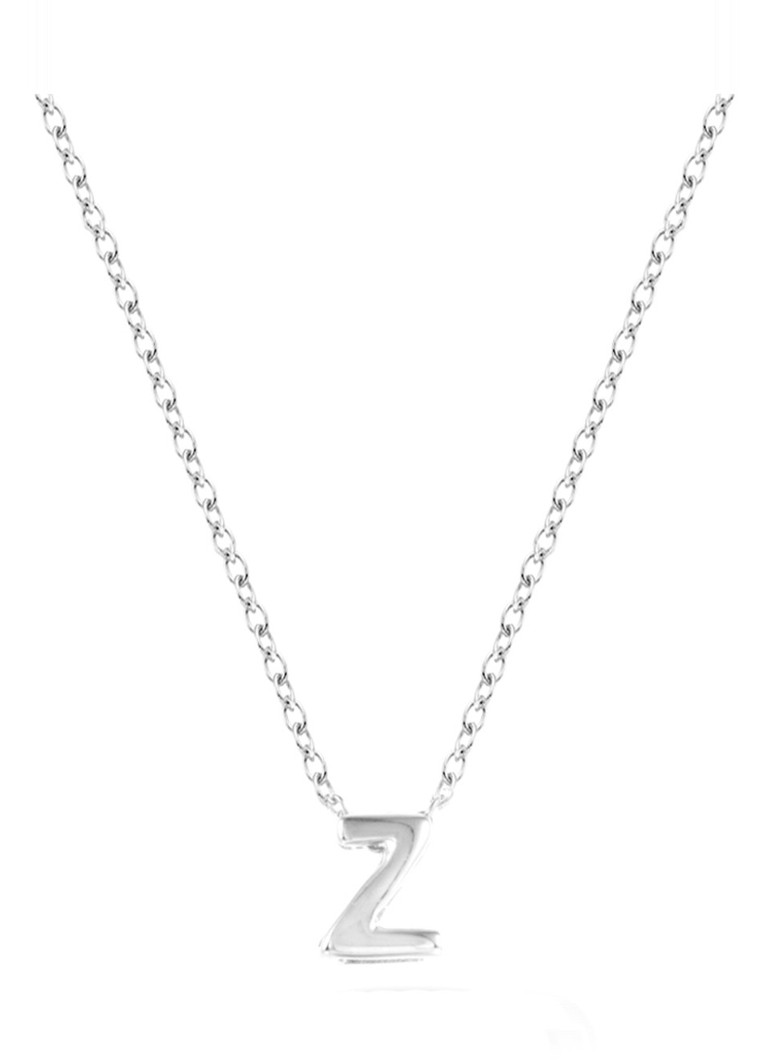 Diamond Point - Witgouden collier Alphabet - Witgoud