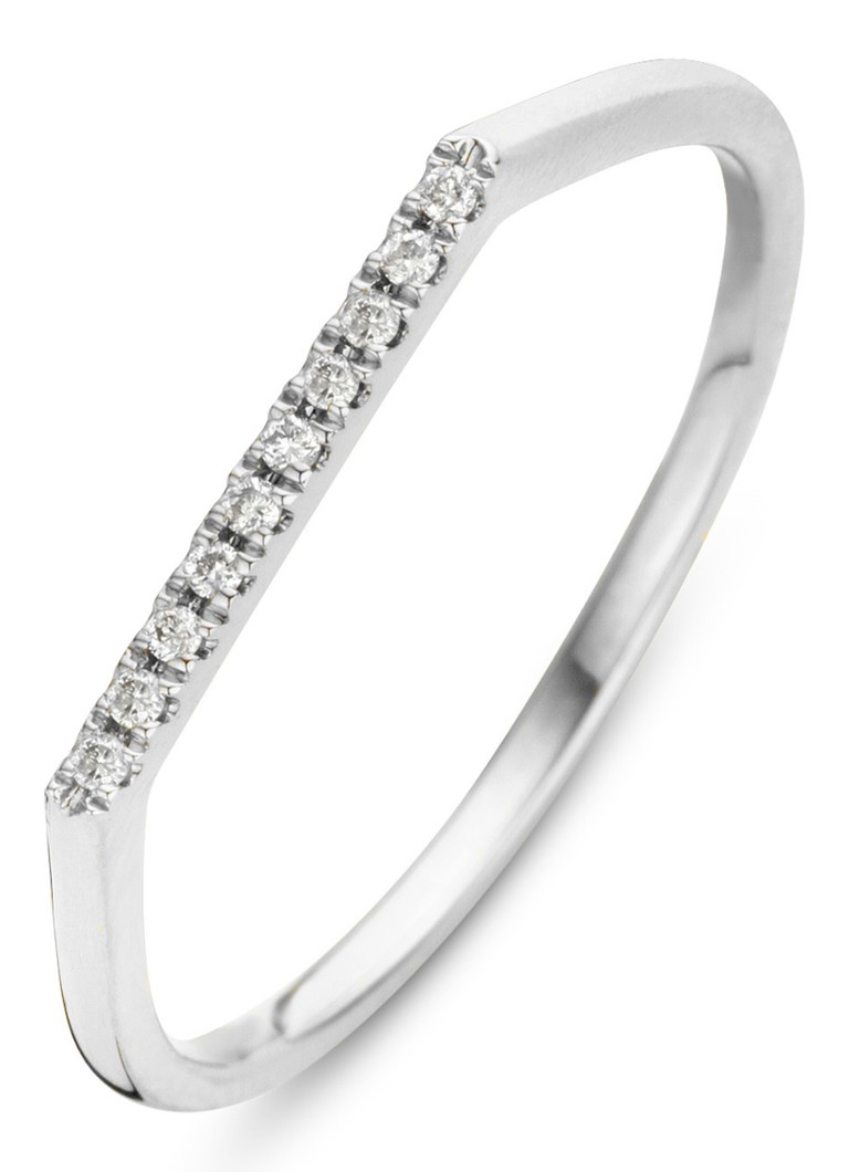 Diamond Point - Witgouden ring 0.04 ct diamant Joy - Witgoud