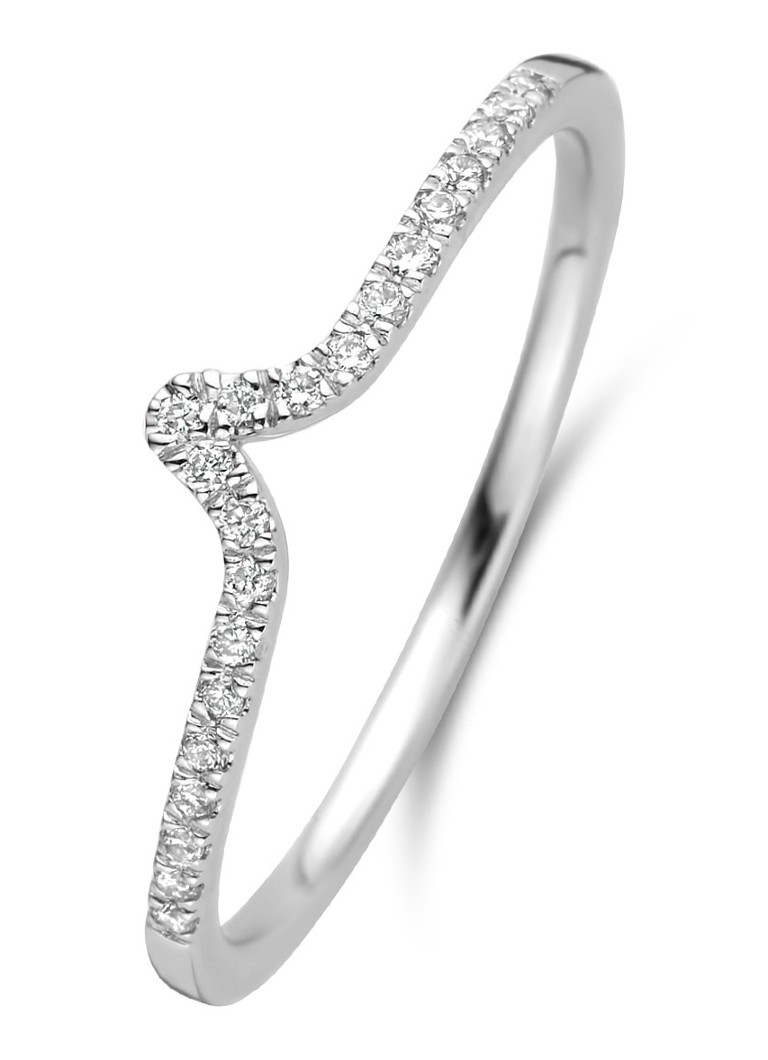 Diamond Point - Witgouden ring 0.08 ct diamant Cosmic - Witgoud
