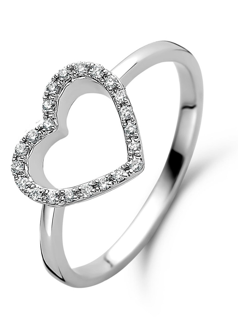 Diamond Point - Witgouden ring 0.08 ct diamant Dreamer - Witgoud