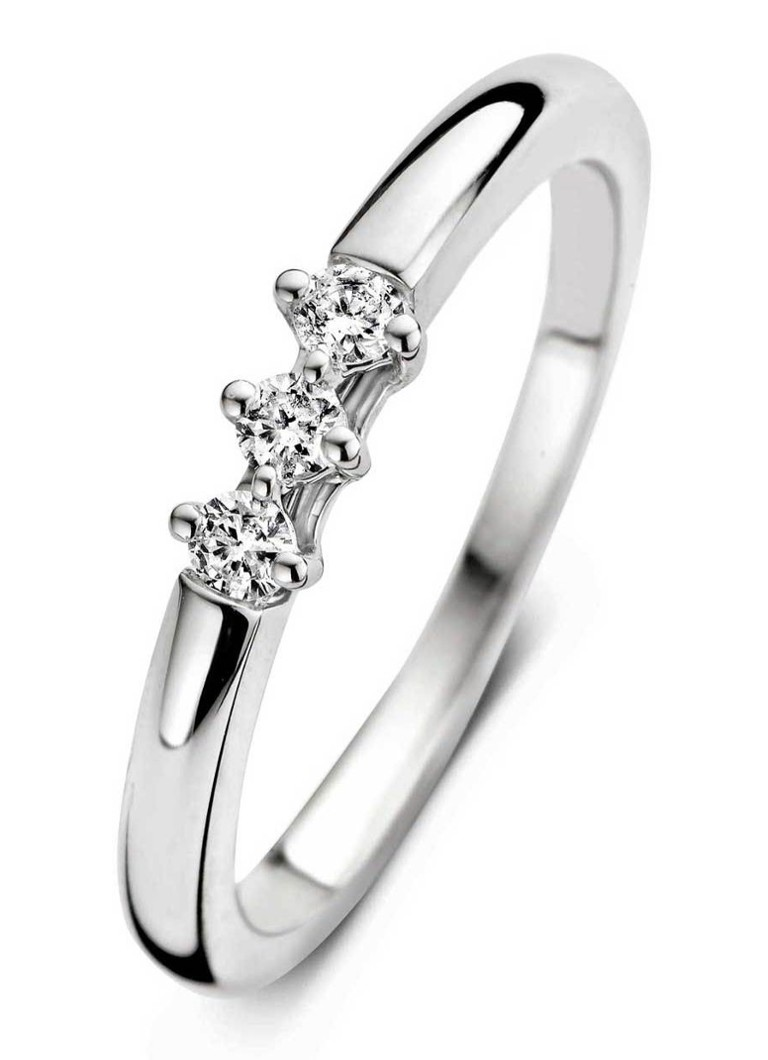 Diamond Point - Witgouden ring 0.15 ct diamant Hearts & Arrows - Witgoud