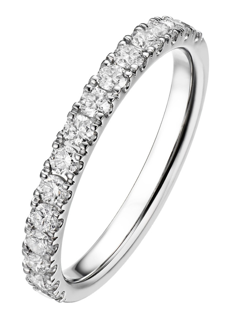 Diamond Point - Witgouden ring 0.52 ct diamant Wedding - Witgoud