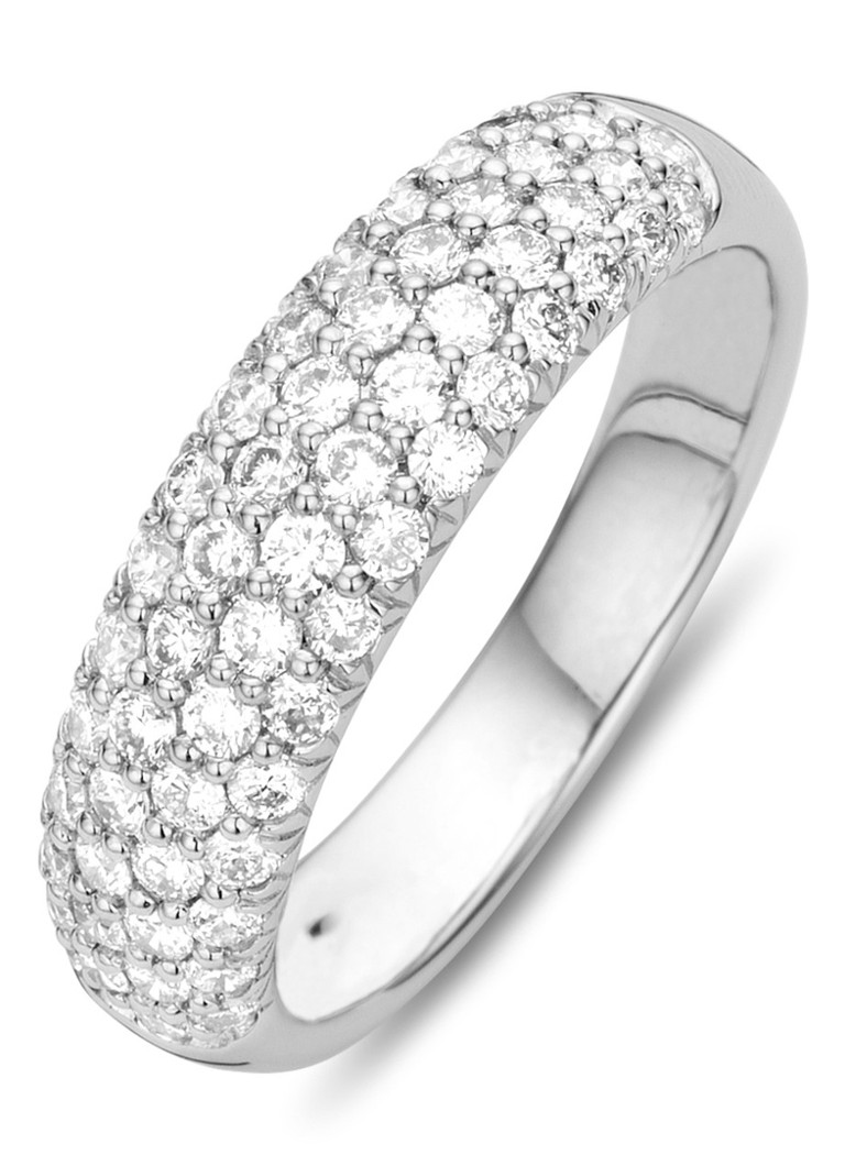 Diamond Point - Witgouden ring 0.84 ct diamant Caviar - Witgoud