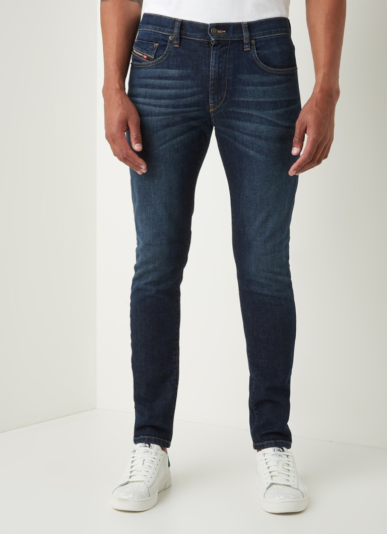 Diesel - D-Strukt slim fit jeans met medium wassing - Indigo