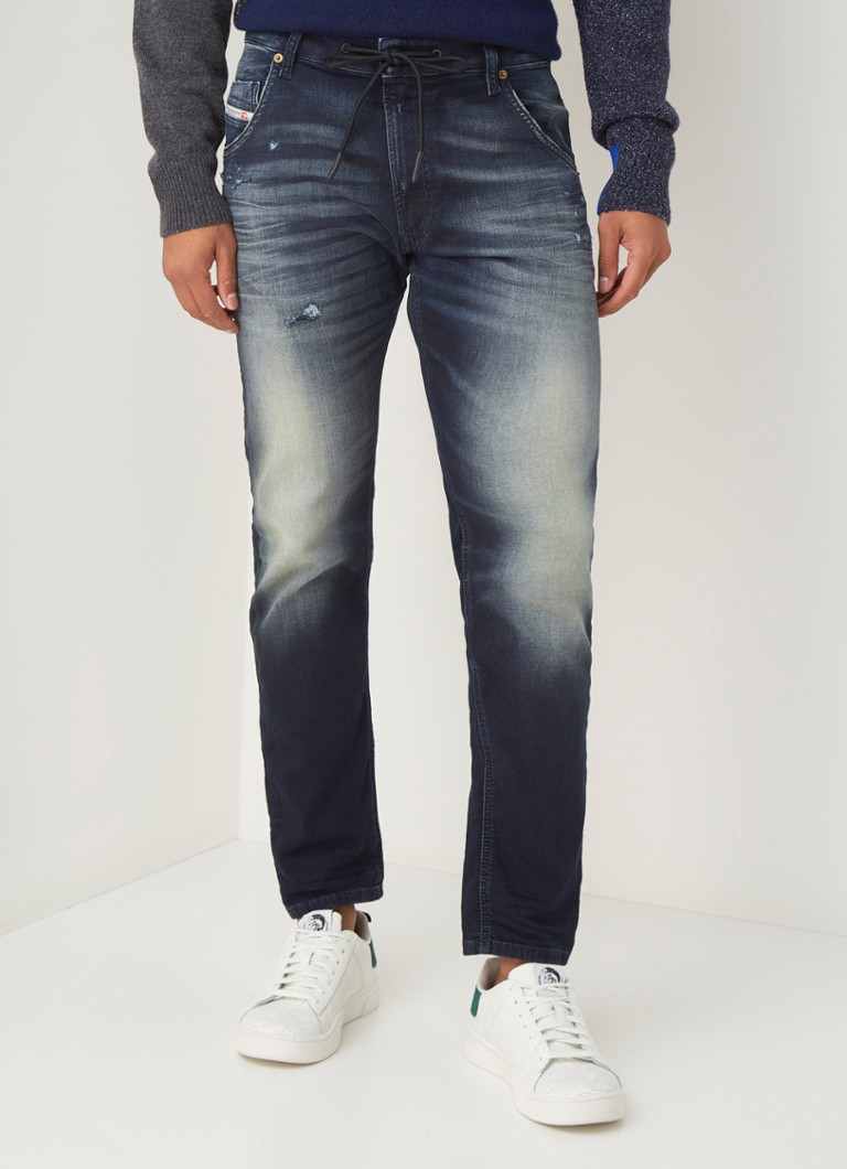 Diesel - Krooley-Y-Ne tapered fit joggjeans met stretch - Indigo