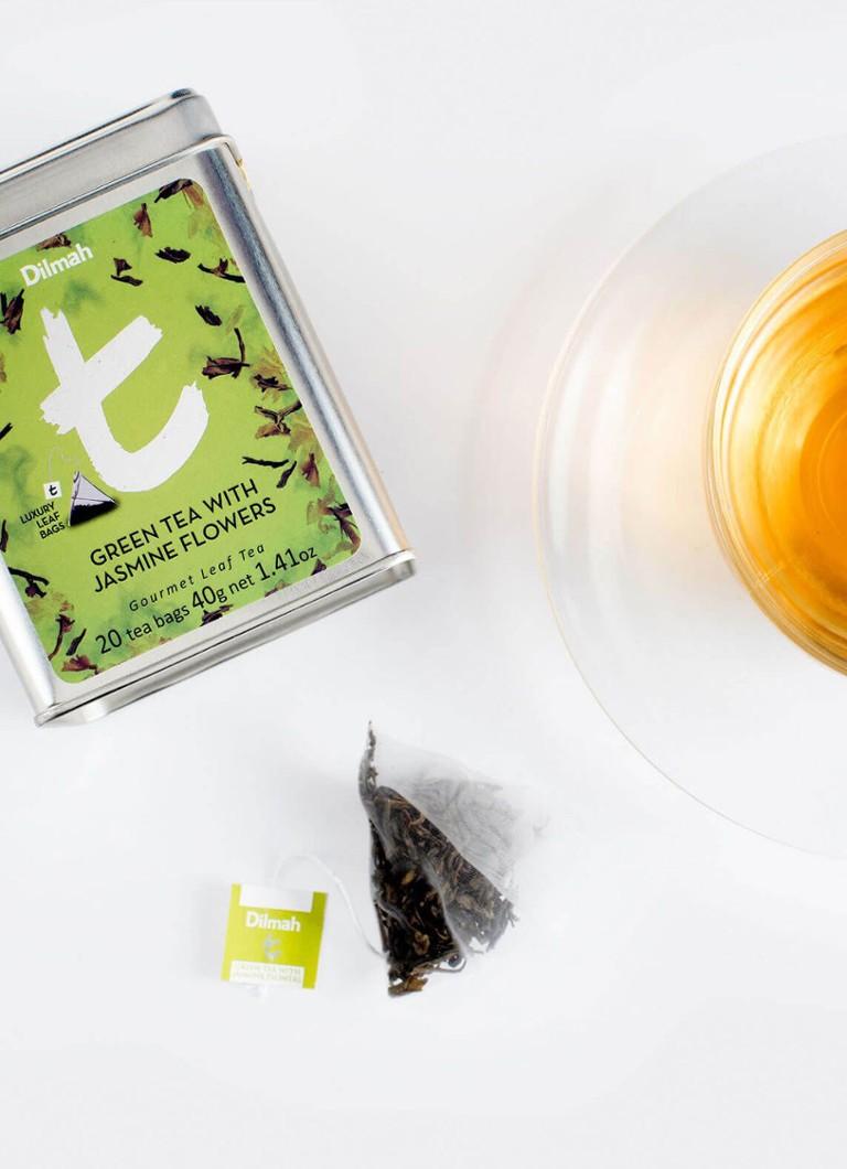 Dilmah Green Tea With Jasmine Flowers Theezakjes 20 Stuks De Bijenkorf