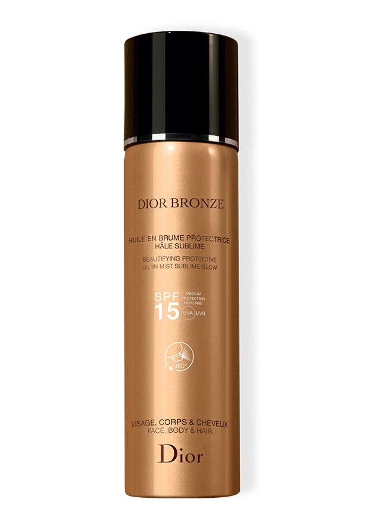 DIOR - Bronze Beautifying Protective Oil in Mist Sublime Glow SPF 15 Face/Body/Hair - zonnebrand -