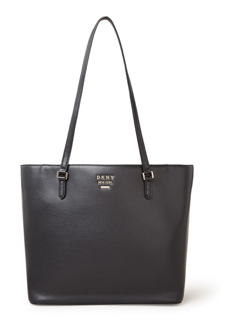 DKNY - Whitney Large shopper van leer - Zwart