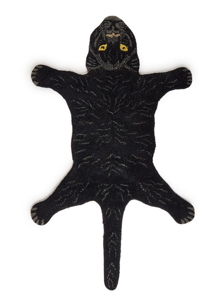 Doing Goods - Fiery Black Panther Small kleed 87 x 65 cm  - Zwart