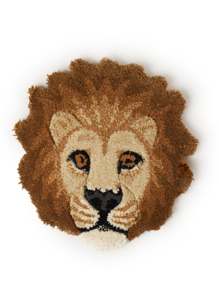 Doing Goods - Moody Lion Head voetenkleed 36 x 34 cm - Beige