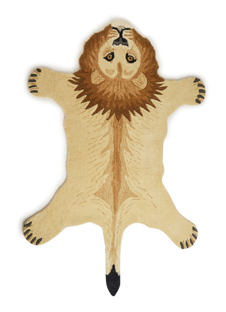 Doing Goods - Moody Lion L vloerkleed 150 x 98 cm - Beige