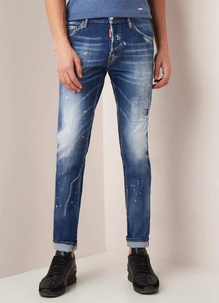 Dsquared2 - Cool Guy slim fit jeans met ripped details - Indigo