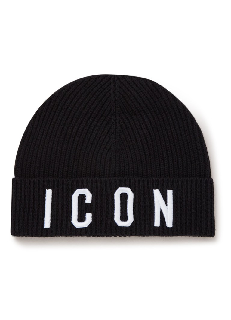 Dsquared2 - Icon muts in wolblend - Zwart