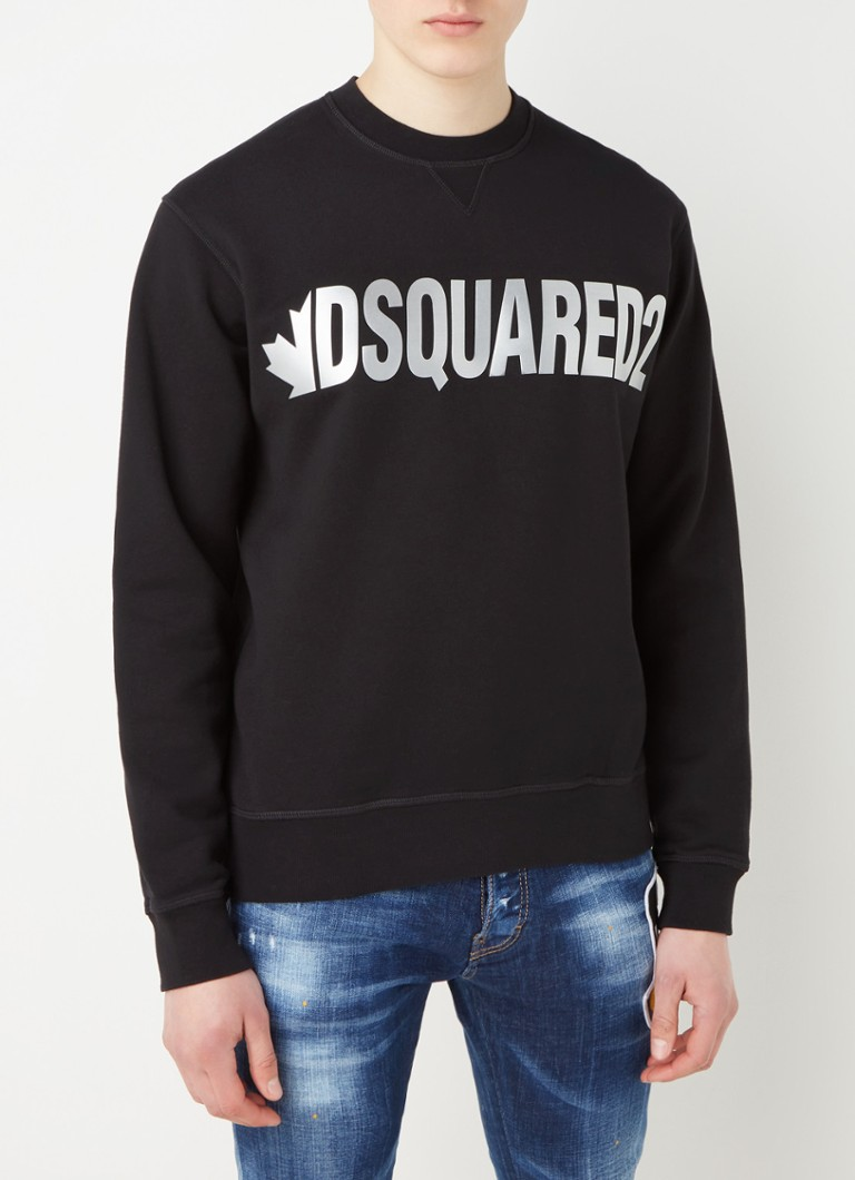 Dsquared2 - Leaf sweater met logoprint - Zwart