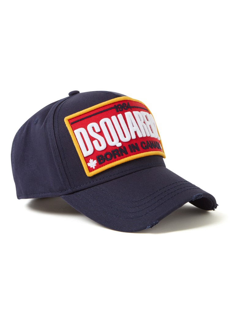 Dsquared2 - Pet met logopatch - Donkerblauw