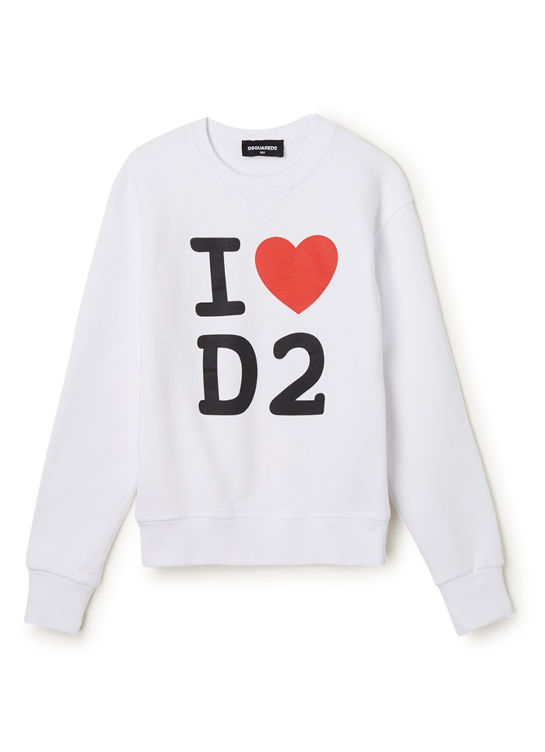 Dsquared2 - Sweater met frontprint - Wit