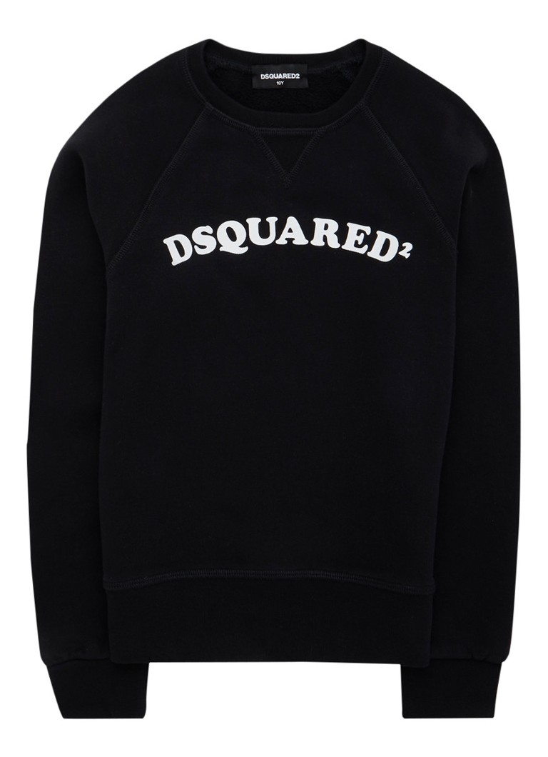 Dsquared2 - Sweater met logoprint - Zwart