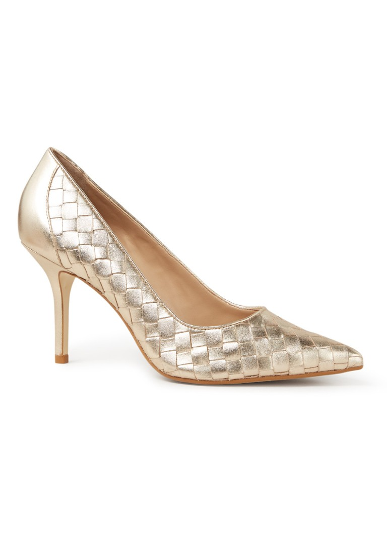 Dune London - Bowe pump van leer met metallic finish - Goud