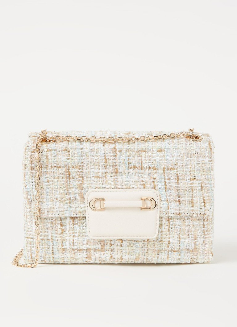 Dune London - Brilliantly schoudertas van tweed - Creme