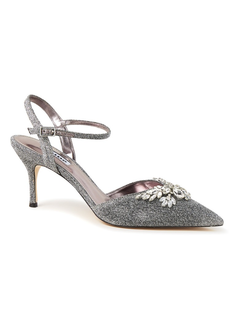 Dune London - Chrystalise pump met strass  - Zilver
