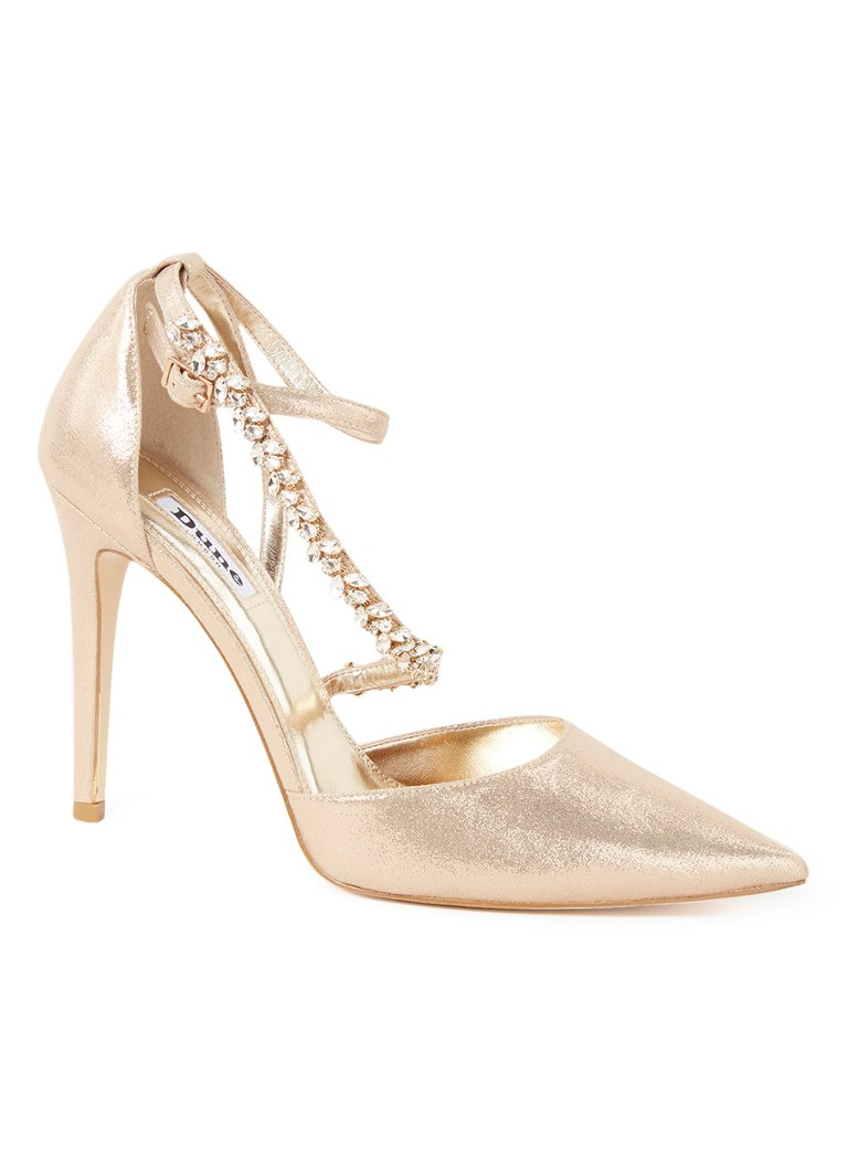 Dune London - Diazz pump met strass - Goud