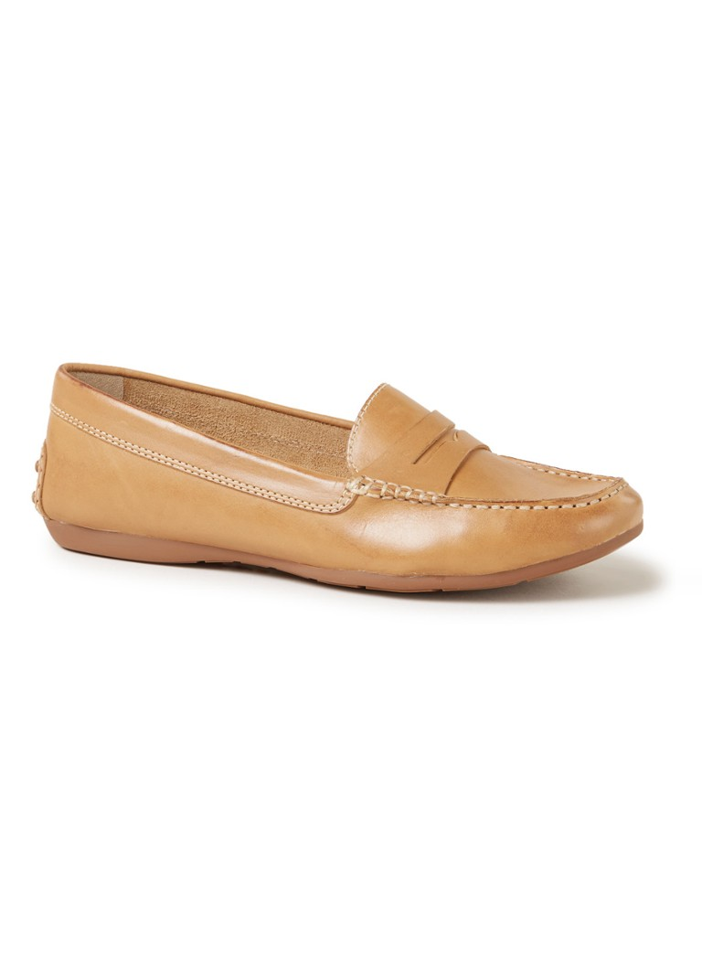 Dune London - Grover loafer van leer - Lichtbruin