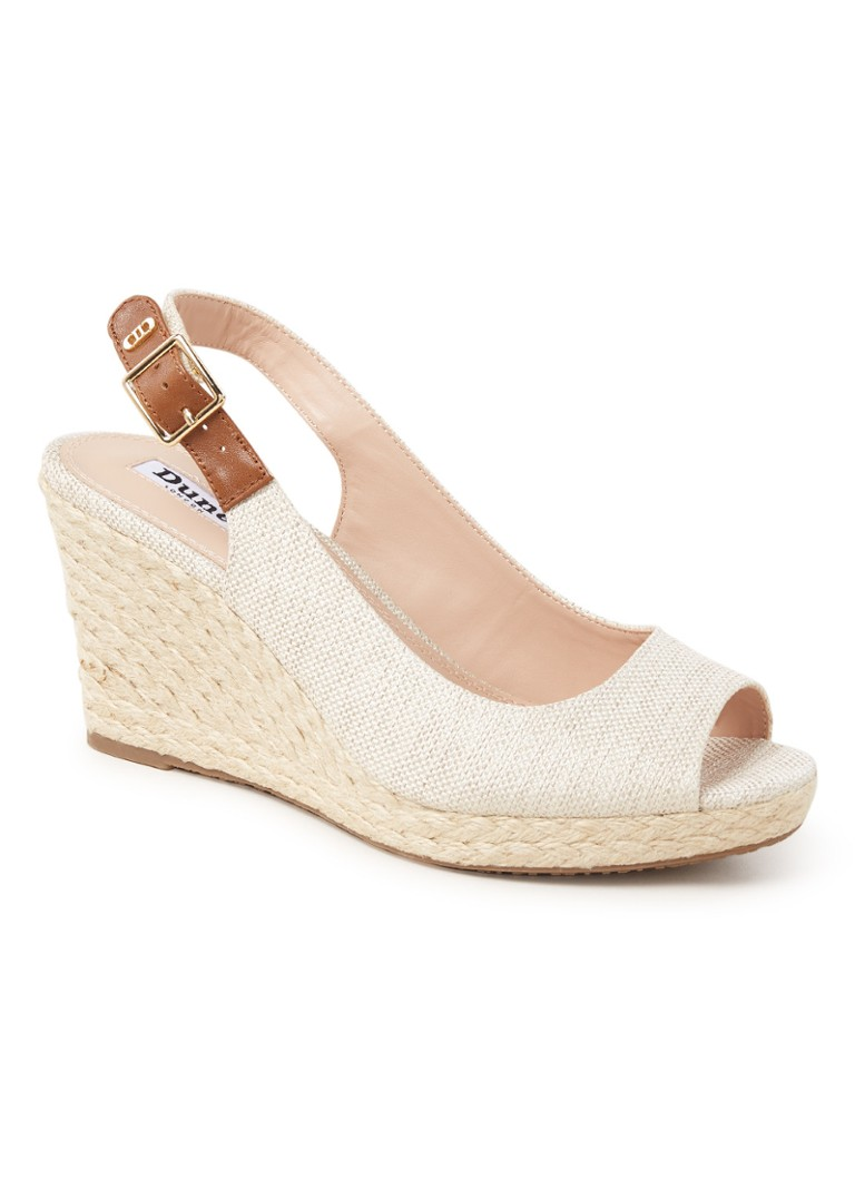 Dune London - Kicks 2 sleehak met leren details - Beige