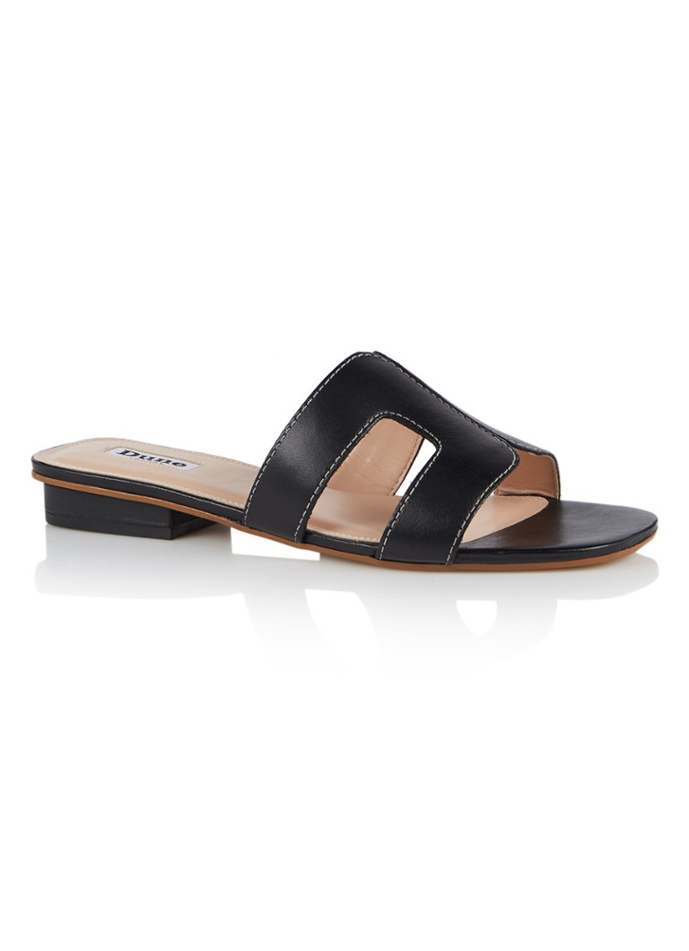 Dune London - Loupe slipper van leer - Zwart